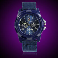 Fashiom Mens Gemius Army Racing Force Military Sport Fabric Band Watch SE
