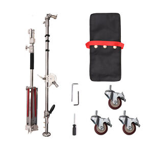Neewer Heavy Duty Light Stand with Casters and Pro Boom Arm, Max. Height 14.7ft