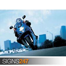 2008 SUZUKI GSX 650F ACTION (1616) Motorbike Poster - Poster Print A1 A2 A3 A4