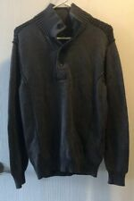 NWT Helix Gray with Black Button Turtleneck Sweater--Size Medium