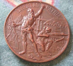 Swiss 1899 Shooting Medal Bronze Tir Cantonal Vaudois Yverdon