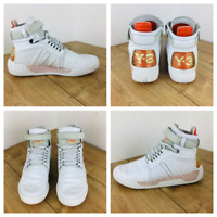 Yohji Yamamoto Y-3 Y3 High Top Adidas Trainers pumps White Sz UK 7 EU 40 unisex