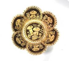 "Russian Birch Bark bread basket Plate (D=22cm / 8.8""). Handmade #50"