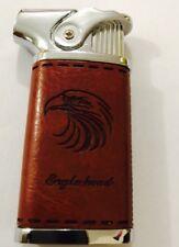 Brand New Eagle Head Leather windproof keyring cigarette lighter U.K. Seller