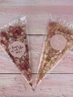 Biodegradable Confetti Natural Wedding Petals Choose your colour & text bags eco