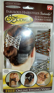 EZ COMBS As Seen on TV Stretchable Double Combs for Amazing Hairstyles NEW! L28