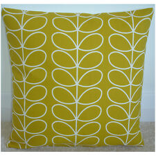 Orla Kiely Cushion Cover Yellow 18x18 Linear Stem Dandelion Ochre Mustard Retro