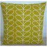Orla Kiely Cushion Cover Yellow 18x18 Linear Stem Dandelion Ochre Mustard Retro