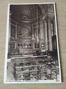 Vintage Unused Postcard Of St. Dunstan's Chapel, St Paul's Cathedral, London.