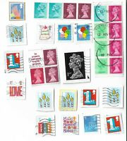 UK stamps x 31, used (presumed from booklets/special sheets)  Batch 3