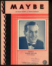 Maybe 1935 Glenn Miller Sheet Music
