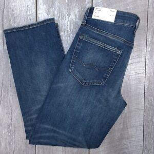 American Eagle Airflex+ Jeans Mens 31x30 Dark Wash Mid Original Straight J115