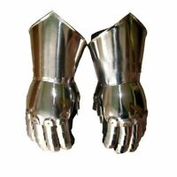 Steel Gauntlets Medieval Gauntlet Larp Role-play Fancy Dress Theatre a1o1