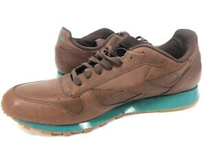 Reebok Classic CL Leather Lux Mens 12 Low Top Sneaker Nutella *