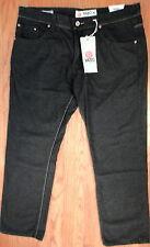 NWT YASO Black Wash Cotton  Denim 38 x 33 Straight Fit Jeans (1347)