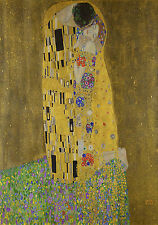 A0 SIZE KLIMT GUSTAV the kiss huge painting art print vintage  841 x 1189 mm