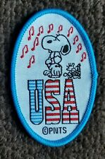 Vintage SNOOPY & WOODSTOCK Cartoon Character USA Patch