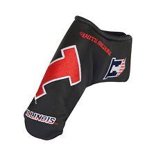 Illinois Fighting Illini Black Putter Cover