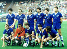 Everton 1985 European Cup Winning Squad Multi Signed Autograph Photo AFTAL COA