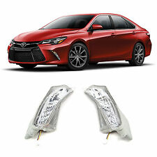 2015 2016 Toyota Camry Chrome Clear Front Signal Bumper LED Driving Fog Lights