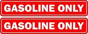 Set 2x sticker decal car rental door bumper gasoline only red