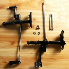 Black Forward Control Linkage With Foot Pegs For Harley Sportster 1991-2003