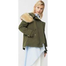 Mango Khaki Faux Fur Parka  Jacket size M