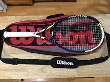 New Wilson Official Us Open Tennis Racquet* With Wilson Multi Racquet Bag 4 3/8