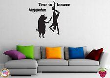 Wall Stickers Vinyl Decal Pig Killing Joke Vegetarian Meat z1017