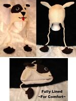DOG HAT knit ski cap ADULT men women for human people deLux beanie toque costume