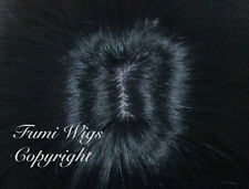 Silky Layered Straight Wig in Black / 100% Japanese Fibre Brilliant Quality