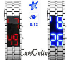 Orologio Digitale Polso Display a Led Uomo Donna Bambino Lava Iron Samurai Watch