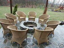 Pottery Barn All Weather Wicker Outdoor Dining sofa accent Chair palmetto sedona