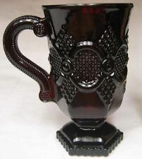 "AVON CAPE COD MUG S PEDESTAL IRISH 1876 HANDLE RED RUBY CUP 5"""