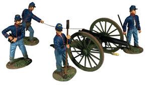 BRITAINS CIVIL WAR UNION 31313 FEDERAL ARTILLERY FIRING 10 POUND PARROT GUN SET