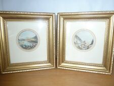 pair beautiful small antique prints