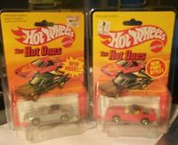 Hot Wheels The Hot Ones - TWO 80's Corvette Silver & Red - In Sterling Protector