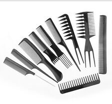 10x Beauty Salon Hair Styling Hairdressing Plastic Barbers Brush Combs
