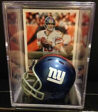 New York Giants Eli Manning Mini Revolution Helmet Shadowbox w/ card