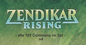 Magic the Gathering - Zendikar Rising - komplett alle 101 Commons x4 im Set