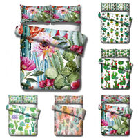 3D Cactus Painting Bedding Set Duvet Cover Pillowcase Comforter/Quilt Cover