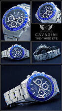 Unisex Chronograph Cavadini Uhr 40 mm Tachymeter azurblau 10 Bar The third Eye