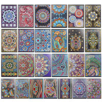 DIY Mandala Special Shaped Diamond Painting 50 Pages A5 Notebook Notepad Gift #K