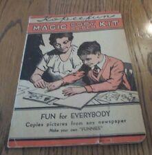 VINTAGE KOPEEFUN MAGIC COPY PAPER KIT MAKE YOUR OWN FUNNIES COPYRIGHT 1935