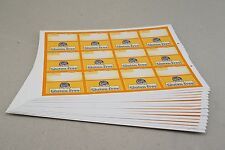 (180) Vinyl Gluten Free Removable Adhesive Shelf Talker Tags 12up Per Page