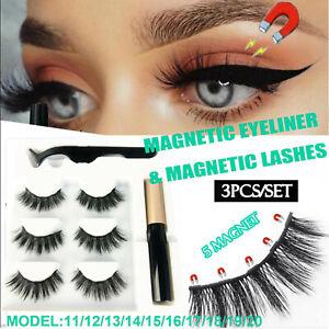 False Eyelashes Magnetic Natural Eye Lashes Extension Liquid Eyeliner Tweezer