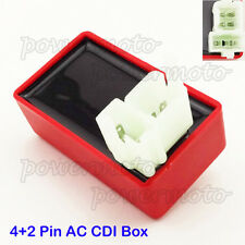 Red 4+2 Pin AC CDI Box For 50cc 110cc 125cc-250cc ATV Quad Dirt Bike Go Kart