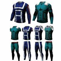 Compression Men Marvel Superhero T-Shirt Long Sleeve Sport Gym Cycling Tops Tee
