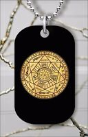 ARCHANGELS SEAL OF ALL 7 DOG TAG NECKLACE PENDANT FREE CHAIN -yfh7Z
