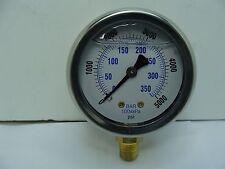 "201L-208R 2"" Glycerin Filled Stainless Steel Gauge 1/8"" NPT LM 0/5000 psi"